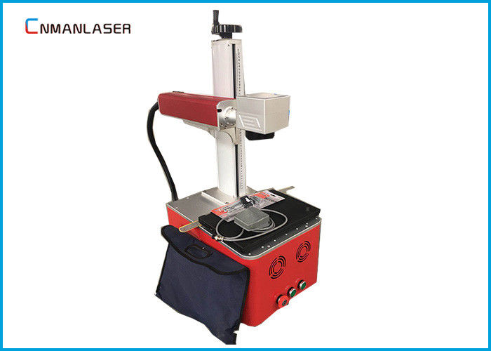 220V Raycus Fiber Laser Marking Machine For Fabric , Long Service Life