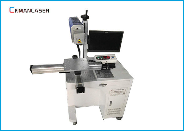 Large Scale Sliding Platform Fiber Laser Marking Machine For Ruler Hardware Tools