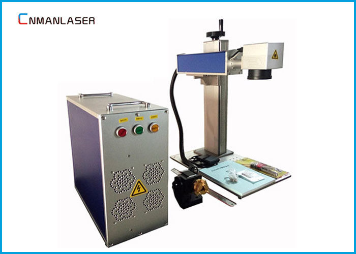 Copper Brass Aluminum Portable Fiber Laser Marking Machine With Rotary Devices