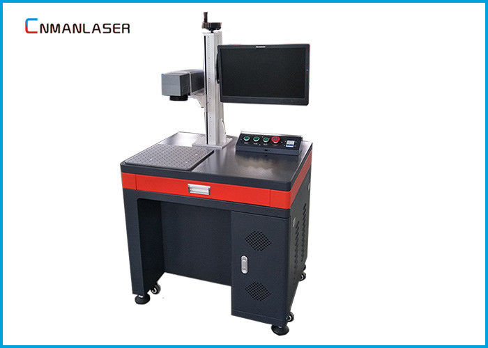 Air Cooling Desktop Optical Fiber Laser Marking Machine For LED Bulb Logo
